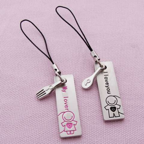 Cell phone strap-Veky Badge Craft Factory is the leading supplier of Badges, Lapel Pin,Emblem, Badge holder,Name Badges, Keychain , Commemorative  Coin, Medal , Bookmark, Metal Dog Tag, Cufflink& Tie Clip,Cell Phone Charms, etc metal gifts and crafts .